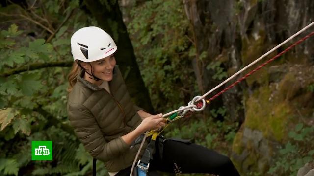 Кейт Миддлтон попробовала себя вскалолазании.Великобритания, Миддлтон Кейт, альпинизм, экстремальные виды спорта.НТВ.Ru: новости, видео, программы телеканала НТВ