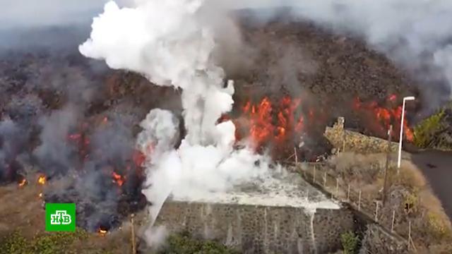 Извергающийся вулкан на острове Пальма хотят превратить ваттракцион для туристов.Испания, Канарские острова, вулканы, извержения, стихийные бедствия.НТВ.Ru: новости, видео, программы телеканала НТВ