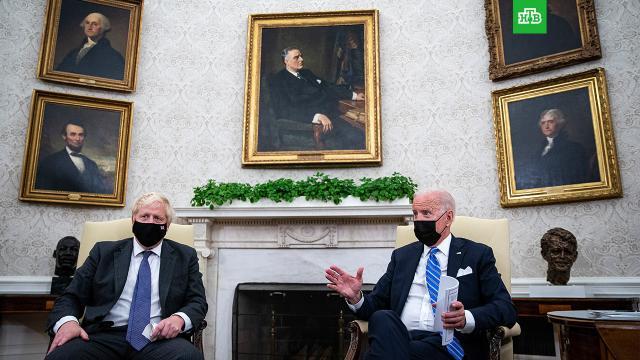 Джонсон и Байден согласовали подход по России и Китаю и назвали условие признания талибов.Международные проблемы, в том числе касающихся России и Китая, Лондон и Вашингтон будут решать, руководствуясь общими ценностями. Об этом договорились британский премьер Борис Джонсон и президент США Джо Байден на встрече в Белом доме.Байден, Великобритания, Джонсон Борис, Китай, США, Талибан.НТВ.Ru: новости, видео, программы телеканала НТВ
