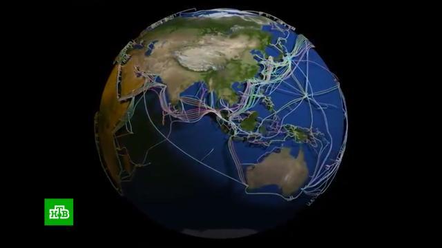 Опубликована 3D-модель опутанной оптоволоконными кабелями Земли.В Интернете появилась 3D-модель Земли, на которой показаны все подводные оптические кабели, формирующие коммуникационную сеть вокруг планеты. .Земля, Интернет.НТВ.Ru: новости, видео, программы телеканала НТВ