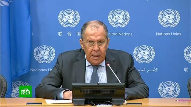 Лавров стрибуны ООН произнес речь ипредложил хештег вподдержку международного права.Лавров, ООН, дипломатия.НТВ.Ru: новости, видео, программы телеканала НТВ