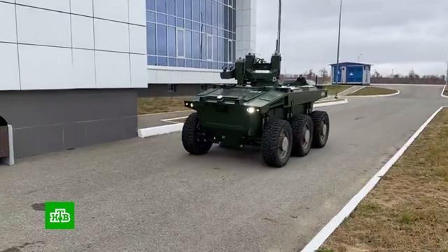 На космодроме Восточный вооруженный колесный робот «Маркер» заступил на дежурство.космодром Восточный, роботы, технологии.НТВ.Ru: новости, видео, программы телеканала НТВ