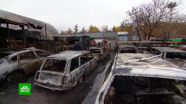 ВМоскве сгорели десять легковушек.Москва, пожары.НТВ.Ru: новости, видео, программы телеканала НТВ