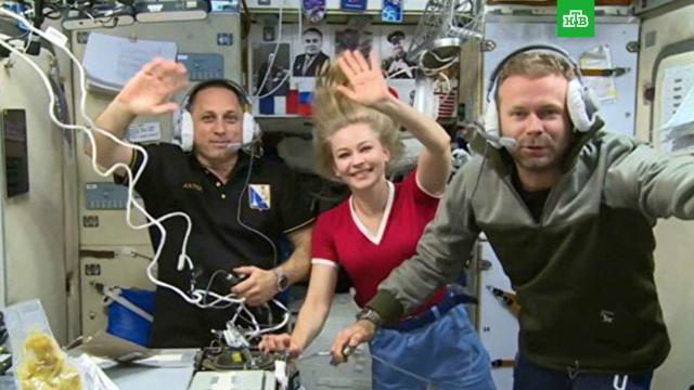 «Киноэкипаж» вернулся сМКС на Землю.МКС, кино, космонавтика, космос.НТВ.Ru: новости, видео, программы телеканала НТВ