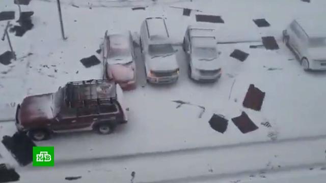 Снежный циклон накрыл сразу несколько регионов Дальнего Востока.Дальний Восток, Сахалин, снег, Хабаровский край, Чукотка, штормы и ураганы.НТВ.Ru: новости, видео, программы телеканала НТВ