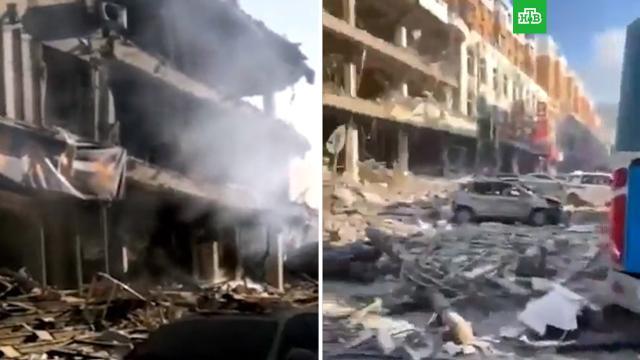 ВКитае прогремевший вресторане взрыв газа изуродовал фасады зданий.Китай, взрывы.НТВ.Ru: новости, видео, программы телеканала НТВ