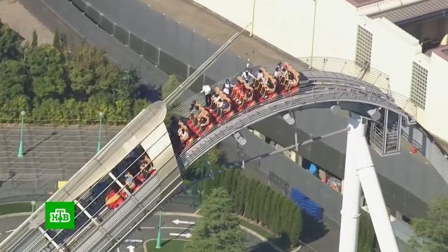 Посетители аттракциона в Японии застряли на большой высоте.Япония, аттракционы.НТВ.Ru: новости, видео, программы телеканала НТВ