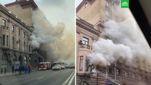 Дом старой постройки загорелся вМоскве.Москва, пожары.НТВ.Ru: новости, видео, программы телеканала НТВ