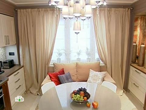 Повтор от 3сентября 2011года.Интерьерный микс «3в 1»: кухня, столовая, гостиная.НТВ.Ru: новости, видео, программы телеканала НТВ