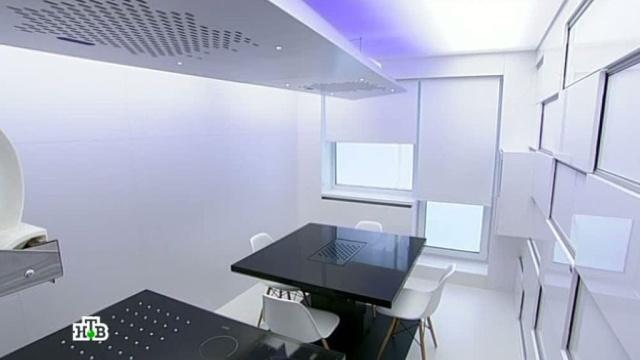 «Квартирный вопрос»: Японская эстетика ичерный куб для кухни среволюционной планировкой.квартирный вопрос, мебель, дизайн.НТВ.Ru: новости, видео, программы телеканала НТВ