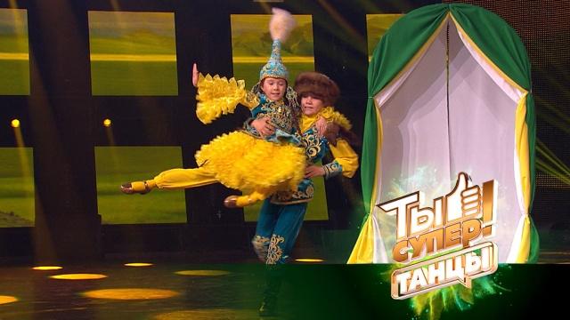 Браво, ребята! Зал стоя аплодировал яркому национальному танцу Радхи иАмиля из Казахстана.НТВ.Ru: новости, видео, программы телеканала НТВ