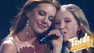 Вика великолепно исполнила сложную песню ивыступила дуэтом сНатальей Подольской