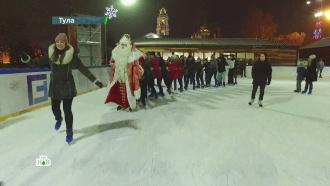 Второй день вТуле: Дед Мороз побывал на новогоднем капустнике иустроил танцевальный баттл
