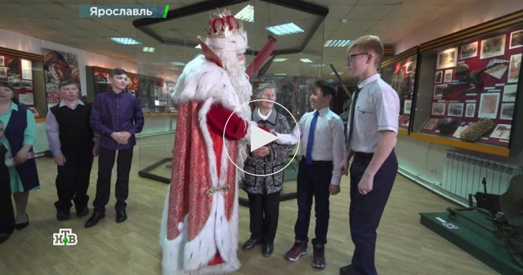 Дед Мороз вЯрославле продолжил марафон новогодних чудес ипознакомился сюными супергероями