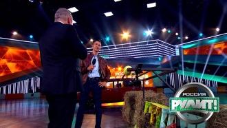 Ведущий НТВ Сергей Малозёмов постарается приготовить овощи спомощью автомобиля. «Россия рулит!»— всубботу в21:00на НТВ