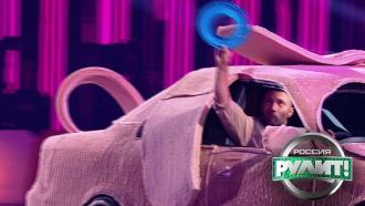 Фрисби на колесах: водитель ловит диски за рулем <nobr>машины-собаки</nobr>