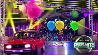 <nobr>Во-первых</nobr>, это красиво: участница сножом на авто поразила все цели под потолком