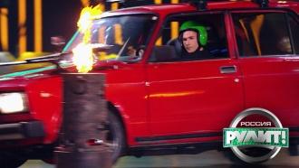 Будущий Шумахер из Люберец пожарил яичницу внастоящем дрифте
