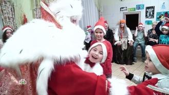 Дедушка Мороз исамая добрая Баба Яга привезли вЕкатеринбург горы подарков
