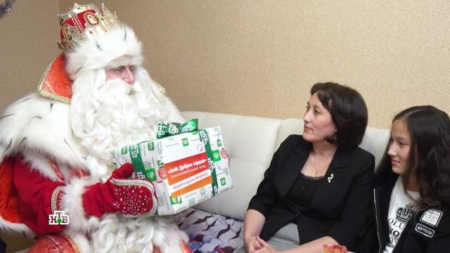 Дед Мороз икоманда НТВ привезли новогодние чудеса вМоскву.НТВ.Ru: новости, видео, программы телеканала НТВ