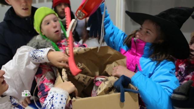 Новогодние чудеса идетские улыбки: начало сказочного путешествия Деда Мороза.НТВ.Ru: новости, видео, программы телеканала НТВ