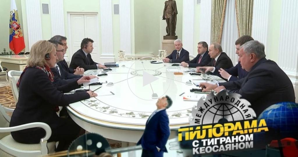Встреча вКремле: как Путин освежал немецкий ипрактиковал иврит
